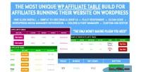 Wp affiliate table plugin affiliates wordpress for