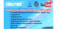 Youtube wordpress cms video automated