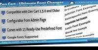 Cart zen changer font ultimate
