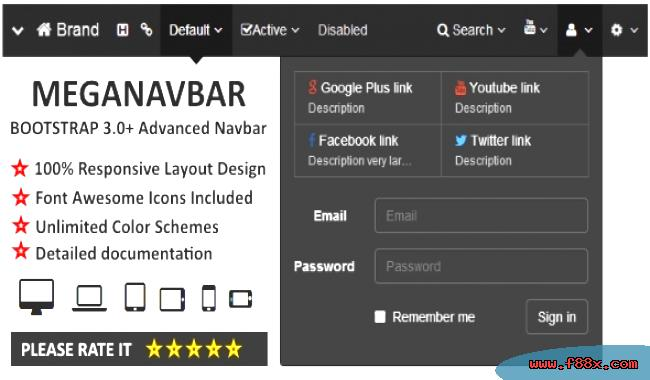 html Bootstrap NavBar with left center or right aligned - mandegar info