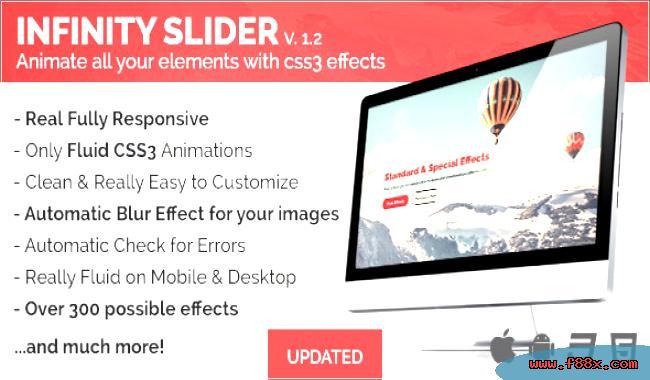 Jquery infinityslider animations css3 slider JavaScript Sliders