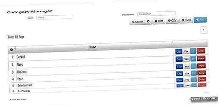 Crud Kohana System Management Data Download Php Scripts