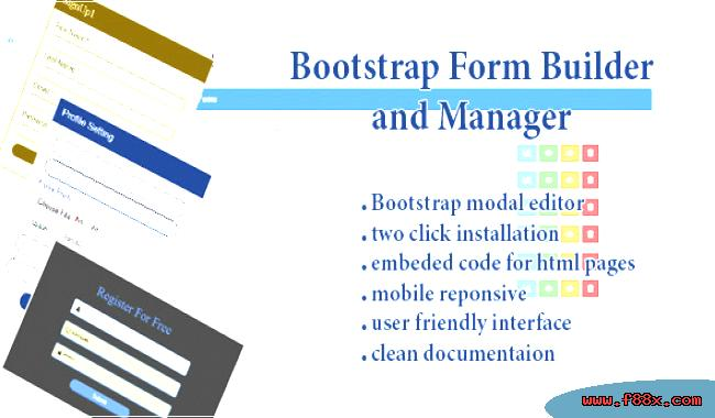 form-bootstrap-manager-builder Online Bootstrap Form Generator on inline label, control types, nice contact, vertical horizontal, input template, no boxes, apply button, general detail collection,