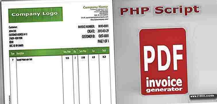 Invoice Pdf V Generator Download Php Scripts - Invoice generator php